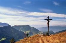 Kruzifix beim Abstieg vom Pic Berg, 19.9.