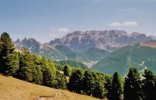 Sella Blick beim Abstieg vom Pic Berg, 19.9.