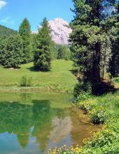 Der Spiegelsee am Weg zur Regensburger Hütte, 22.06.