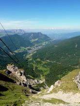 Blick ins Tal nach St. Ulrich von der Seceda, 27.06.