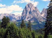 Am Monte Pana mit Blick auf den Langkofel, 04.07.