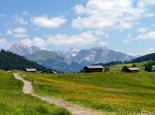 Blick zum Pic Berg und zur Stevia, 29.06.