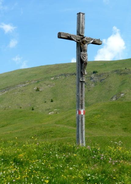 Das Kruzifix vorm Cuca Sattel, 2.7.
