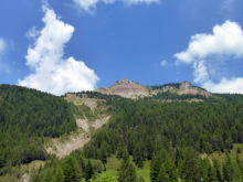 Blick zum Pic Berg vom Jägerheim, 4.7.