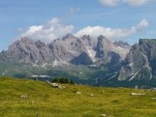 Blick vom Monte Seura zu den Geisler Spitzen, 7.7.