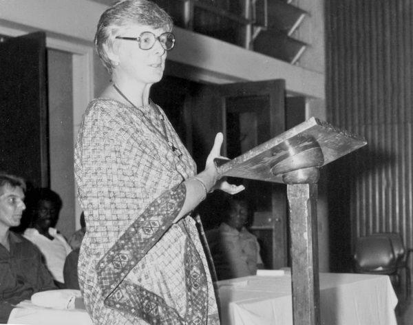 44 Jahre alt zum Studienbeginn mit der Antrittsvorlesung an der Universität in Kumasi, 1976